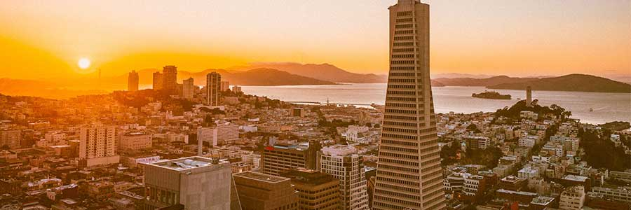 San Francisco skyline at sunrise